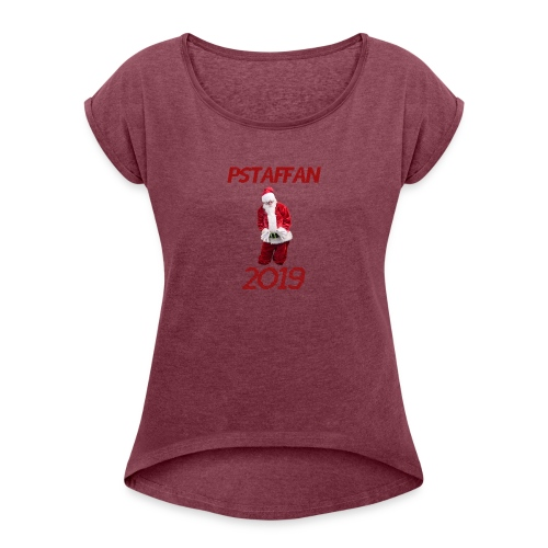 jultroja - tomten 2019 - T-shirt med upprullade ärmar dam
