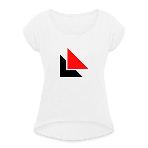 LZZ NORMAL LOGO SHIRT - T-shirt med upprullade ärmar dam