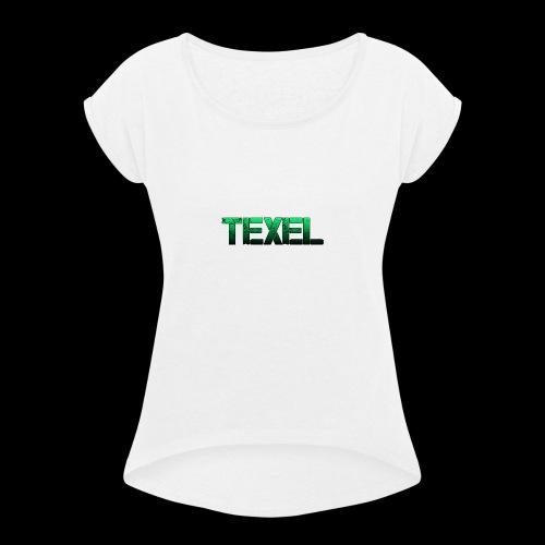 Texel - Vrouwen T-shirt met opgerolde mouwen