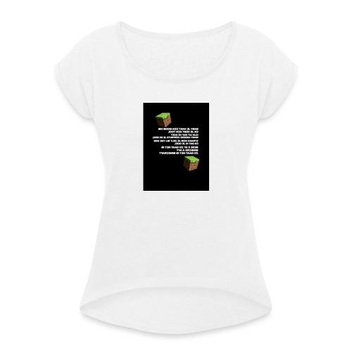 besef - Vrouwen T-shirt met opgerolde mouwen
