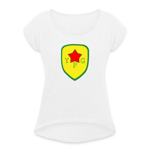 YPG Snapback Support hat - Naisten T-paita, jossa rullatut hihat