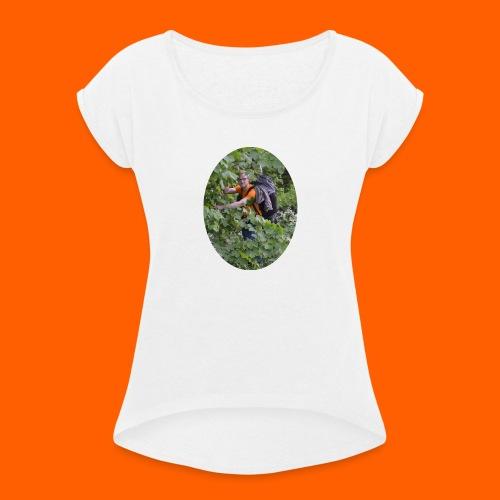 bjerkeskog - T-skjorte med rulleermer for kvinner
