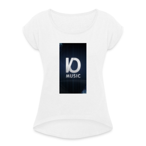iphone6plus iomusic jpg - Women's T-Shirt with rolled up sleeves