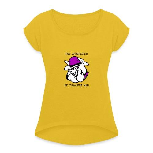 T-shirt D12M - Vrouwen T-shirt met opgerolde mouwen