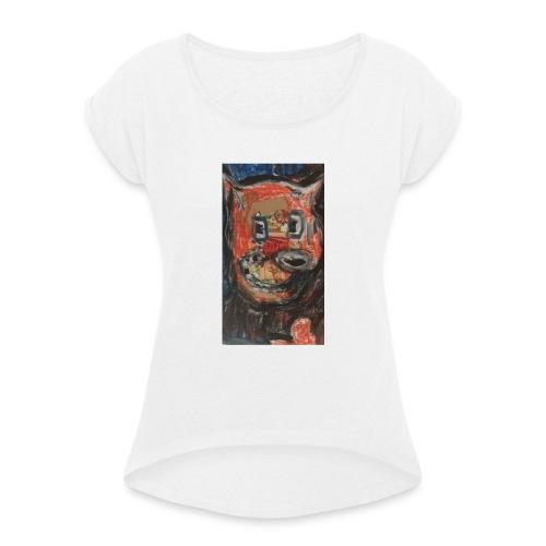 Loup Love - T-shirt à manches retroussées Femme