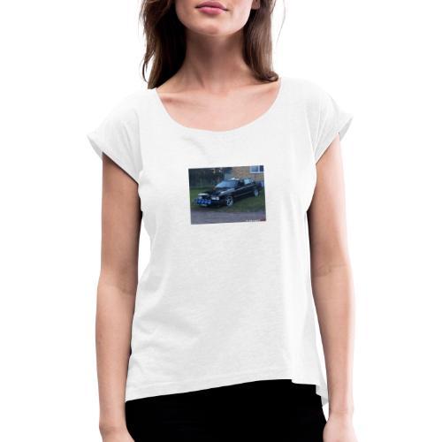 Refill - T-shirt med upprullade ärmar dam