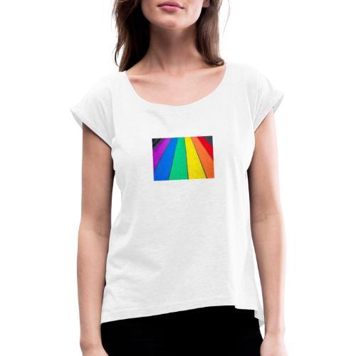 Lgbtq Street - Frauen T-Shirt mit gerollten Ärmeln
