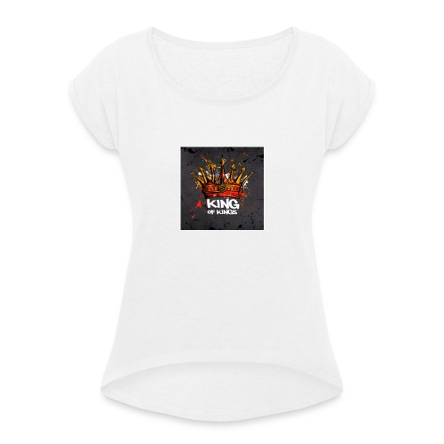 King of kings - Frauen T-Shirt mit gerollten Ärmeln