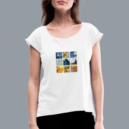 VAN GOGH COLLAGE - Camiseta con manga enrollada mujer
