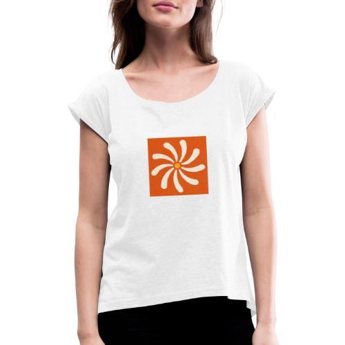 3C802125 C0DF 4B66 8303 BFA5E0DB008D - T-shirt à manches retroussées Femme