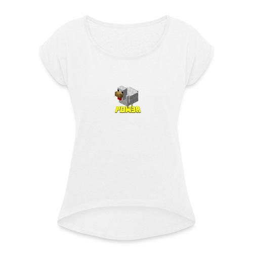 POw3r sportivo - Maglietta da donna con risvolti