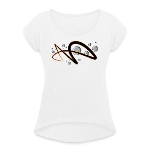 AS AE - Naisten T-paita, jossa rullatut hihat