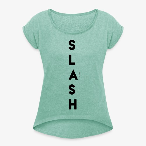 COLLEZIONE / S L A S H / DSN Invernale, verticale - Maglietta da donna con risvolti