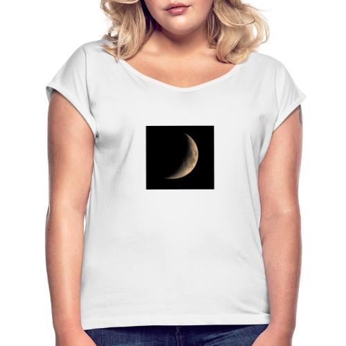 Moon - Women's T-Shirt with rolled up sleeves
