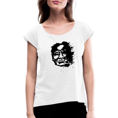 Sprengkopf - Frauen T-Shirt mit gerollten Ärmeln