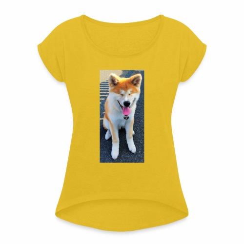 Akita Yuki - Women's T-Shirt with rolled up sleeves