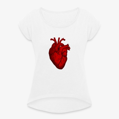 Heart - Women's T-Shirt with rolled up sleeves