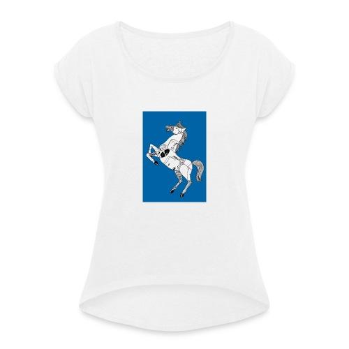 Danse équestre - T-shirt à manches retroussées Femme