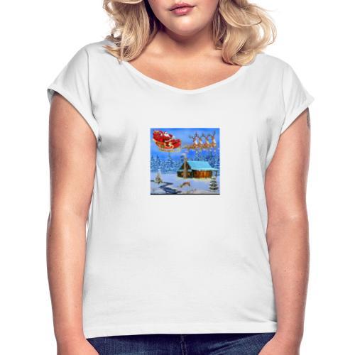 IMG 20191121 014654 - Dame T-shirt med rulleærmer