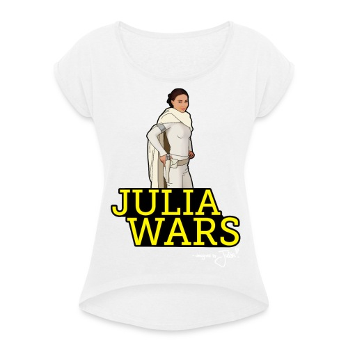 JULIA WARS - Frauen T-Shirt mit gerollten Ärmeln