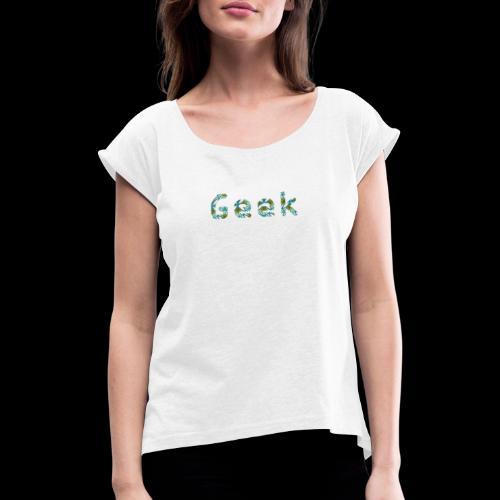 Hawaiian Geek - T-shirt à manches retroussées Femme