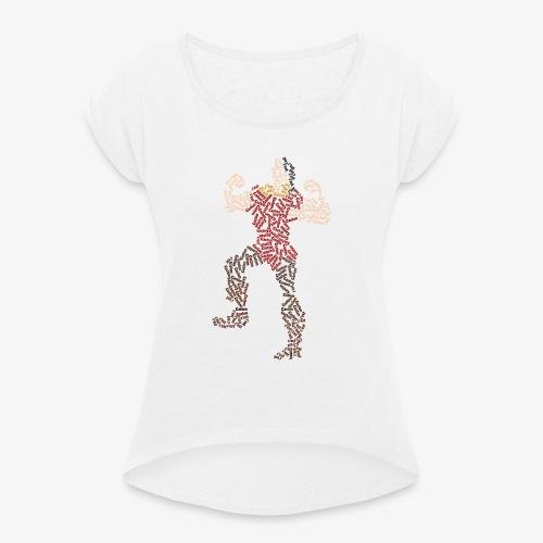 Le plus beau c'est Gaston - T-shirt à manches retroussées Femme