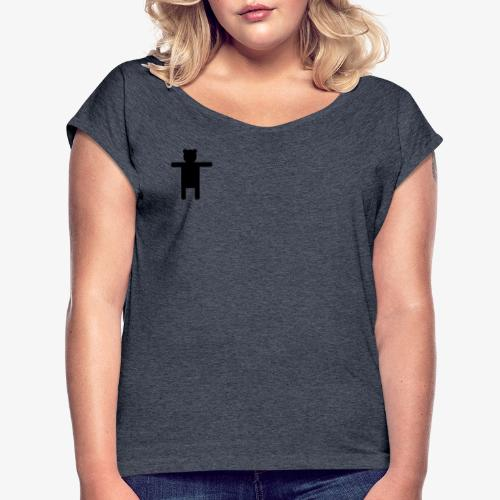 Epic Ippis Entertainment logo desing, black. - Women's T-Shirt with rolled up sleeves