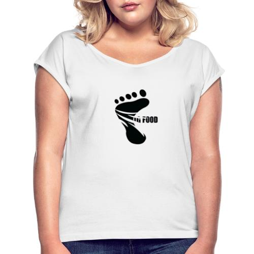 BIG FOOD - Women's T-Shirt with rolled up sleeves