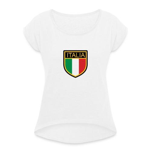 SCUDETTO ITALIA CALCIO - Maglietta da donna con risvolti