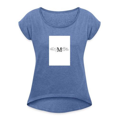 gmoese - Frauen T-Shirt mit gerollten Ärmeln