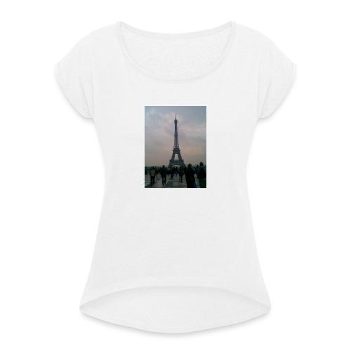 i love - Vrouwen T-shirt met opgerolde mouwen