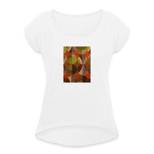 Africanpremier - T-shirt med upprullade ärmar dam
