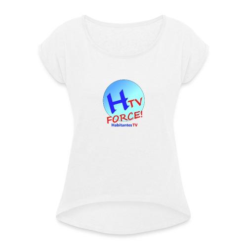 LOGO1.png - Camiseta con manga enrollada mujer