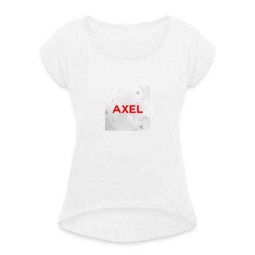 Youtube Logo - Vrouwen T-shirt met opgerolde mouwen