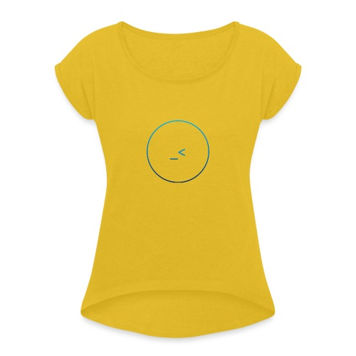 Coding Magazine logo - Women's T-Shirt with rolled up sleeves