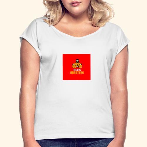 Alvis merch - T-shirt med upprullade ärmar dam