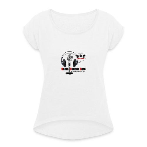 nouveau logo radio - T-shirt à manches retroussées Femme