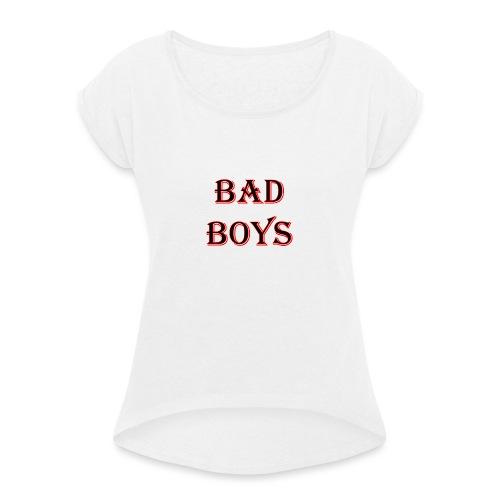 bad boys black red - T-shirt à manches retroussées Femme