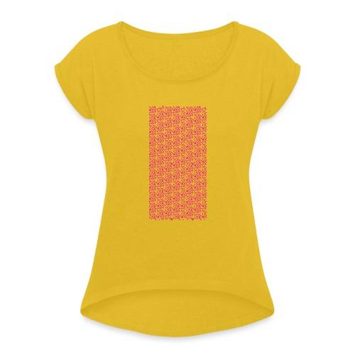 Fluo Sghiribizzy - Maglietta da donna con risvolti