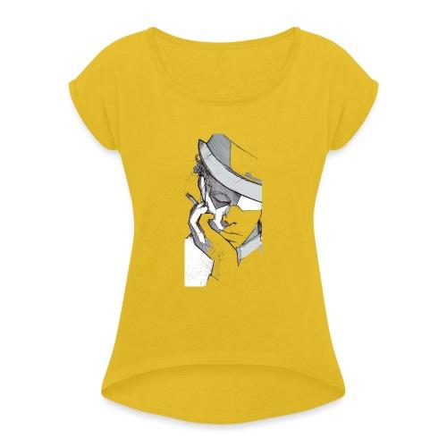 tom2 - Maglietta da donna con risvolti