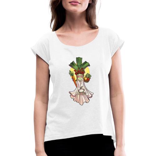 Göttingen | frisch und knackig - Frauen T-Shirt mit gerollten Ärmeln