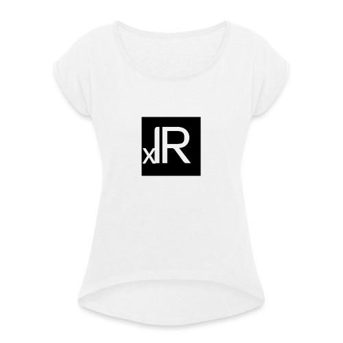 xIR - Naisten T-paita, jossa rullatut hihat