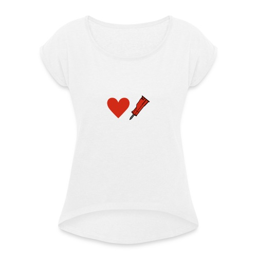 Heart Breaker - Women's T-Shirt with rolled up sleeves