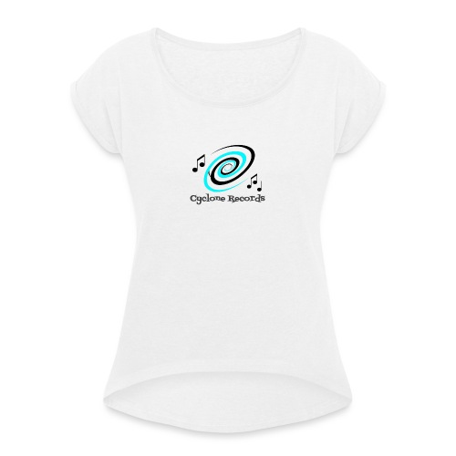 cyclone trans - Women's T-Shirt with rolled up sleeves