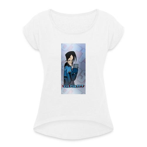 Valp Mobilskal png - T-shirt med upprullade ärmar dam
