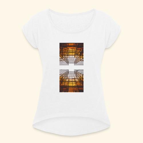 City - Frauen T-Shirt mit gerollten Ärmeln