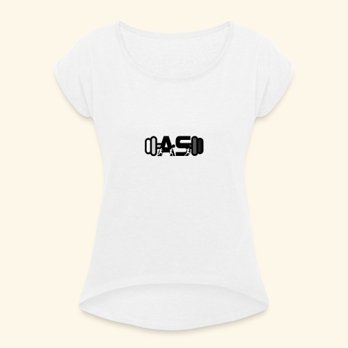 AS Logo - Women's T-Shirt with rolled up sleeves