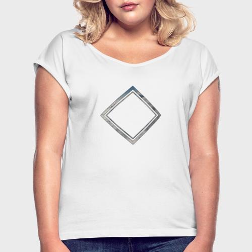 Cloud Square - Frauen T-Shirt mit gerollten Ärmeln