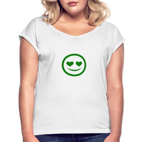 in lovelih - Frauen T-Shirt mit gerollten Ärmeln