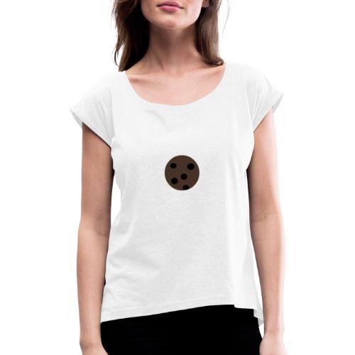 Cookie - Frauen T-Shirt mit gerollten Ärmeln